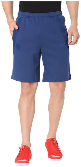Puma Men Blue Cotton Shorts