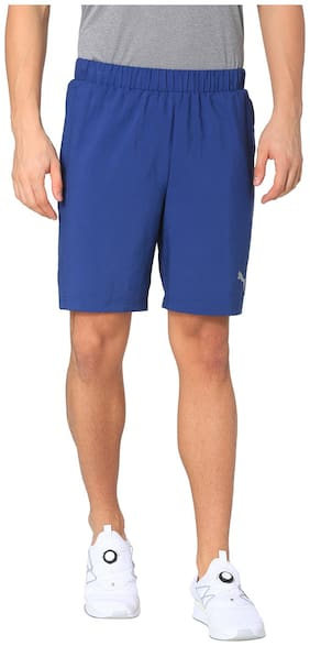 Puma Men Blue Polyester Shorts