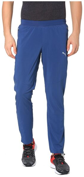 Puma Men Polyester Blend Track Pants - Blue