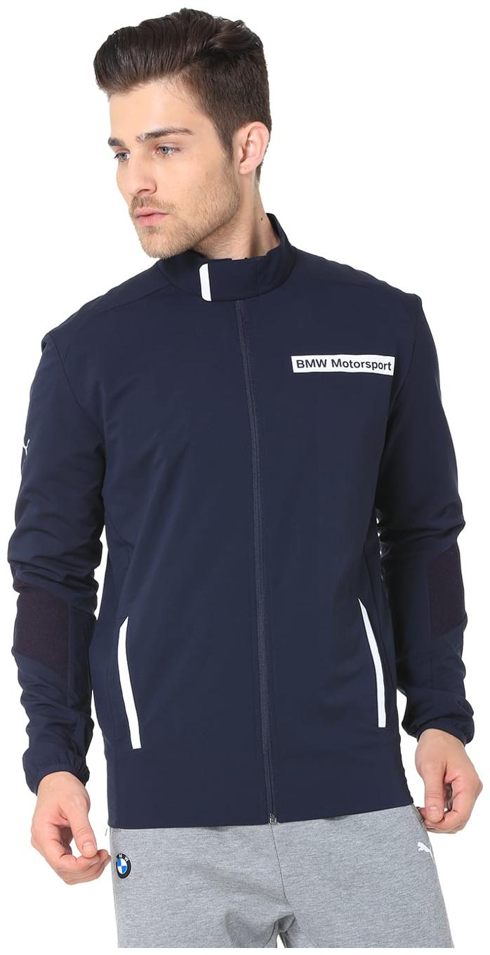 Buy Puma Men Blue Solid Sports jacket Online at Low Prices ...