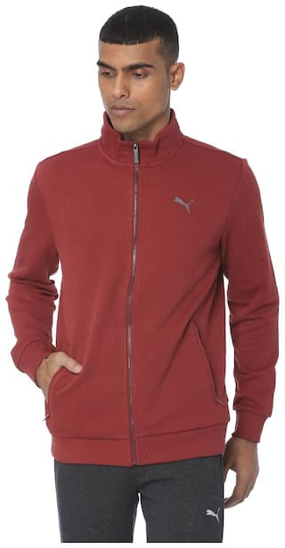 Puma Men Red Solid Quilted jacket