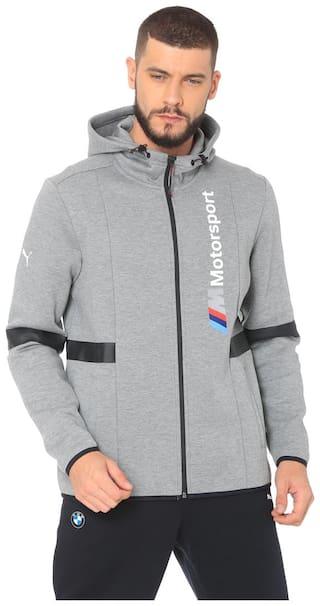 Puma Men Grey Printed Quilted jacket