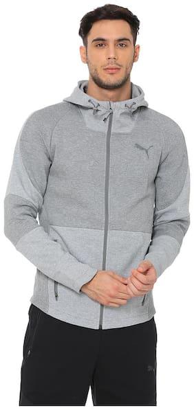 Puma Men Cotton Jacket - Grey