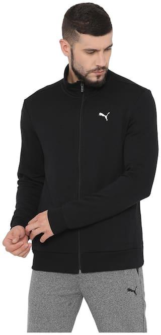 Puma Men Black Solid Quilted jacket