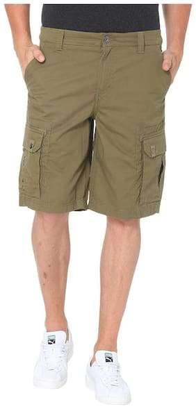 Puma Men Cotton Shorts - Green