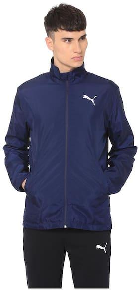 Puma Men Polyester Jacket - Blue
