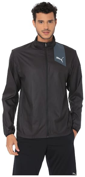 Puma Men Polyester Jacket - Black