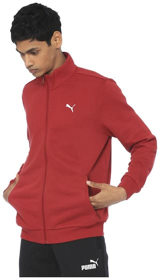 Puma Men Polyester Quilted Jacket Red