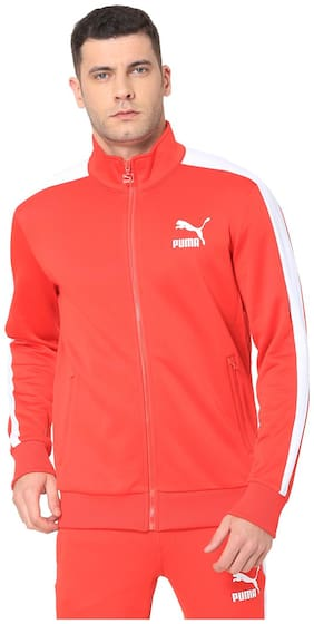 Puma Men Polyester Jacket - Red