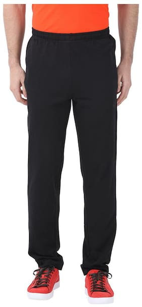 Puma Men Cotton lycra Track Pants - Black