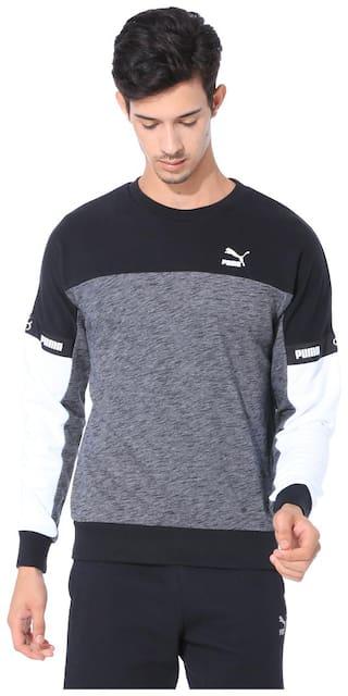 Puma Men Black Round neck Sweatshirt
