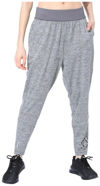 Puma Women Regular fit Polyester Printed Track pants - Grey