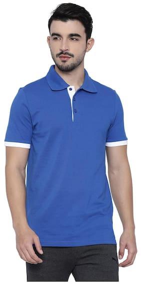 Puma Men Polo Neck Sports T-Shirt - Blue
