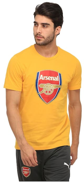 13a30300f Buy Puma Yellow Pure Cotton T-Shirts Online at Low Prices in India ...