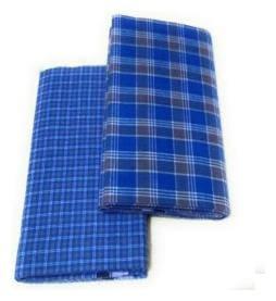 THARUN Cotton Checked Regular dhoti Dhoti - Blue