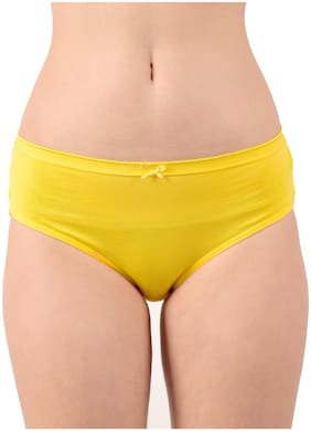 Purplehuez Pack Of 1 Solid Low waist Hipster Panty - Yellow
