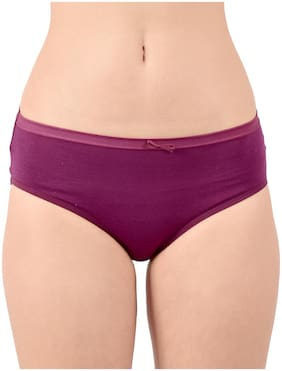 Purplehuez Pack Of 1 Solid Low waist Hipster Panty - Purple