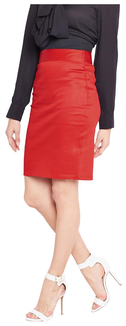 986388bc6 Buy Purplicious Red Formal Pencil Skirt Online at Low Prices in India -  Paytmmall.com