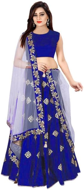 Satin Wedding Lehnga Choli