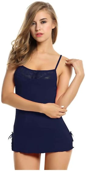 PYXIDIS Babydoll Nightwear Dress made from viscose blend fabric with G-String Panty