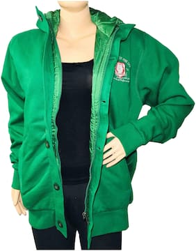 Qamash Women Solid Regular FIt Coat - Green