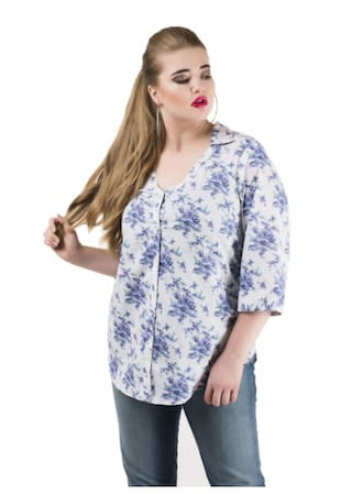 Qruvii Cotton Shirt For Women