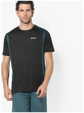 99134293f Performax By Reliance Trends Men Regular Fit Crew Neck Solid T-Shirt - Black