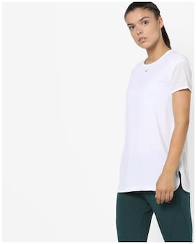 Performax By Reliance Trends Solid White T Shirt