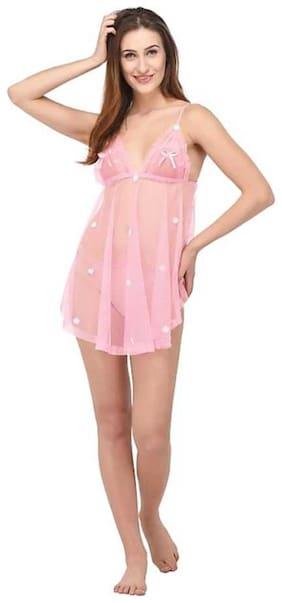 Quinize Girls Babydoll Fancy Sleepwear Nighty Dress (Free Size)