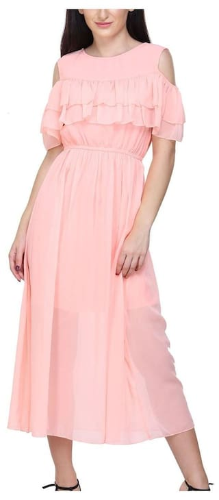 Dress Shoulder pink Cold Raabta Baby x7wOnHPfP