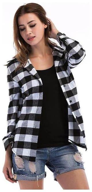 Raabta Fashion Women Multi Checked Regular Fit Shirt
