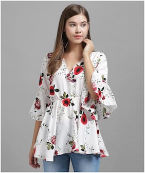 Women Floral V Neck Top ,Pack Of 1