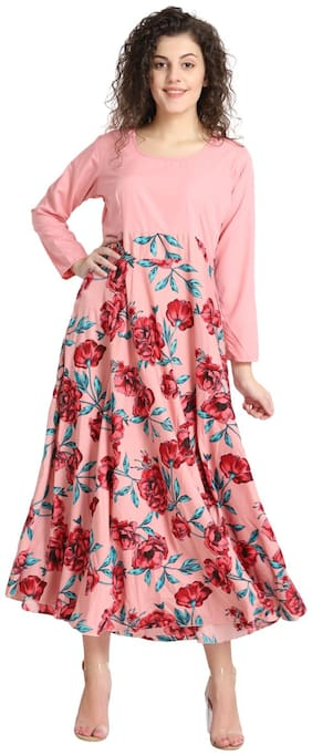 Women Floral Regular Fusion Dresses