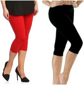 Viscose Rayon Solid Leggings