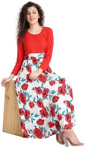 Women Floral Regular Fusion Dresses