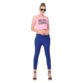 Raabta Royal Blue Cotton Pant