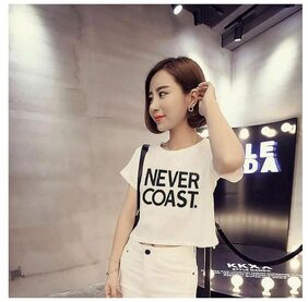 Raabta White NEVER COAST short top