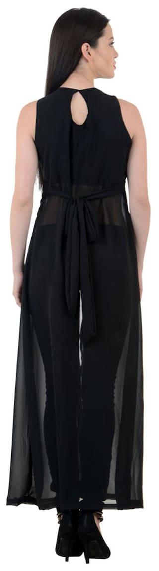 Raabtaaa Black Dress Georgette lyDFWQhB7