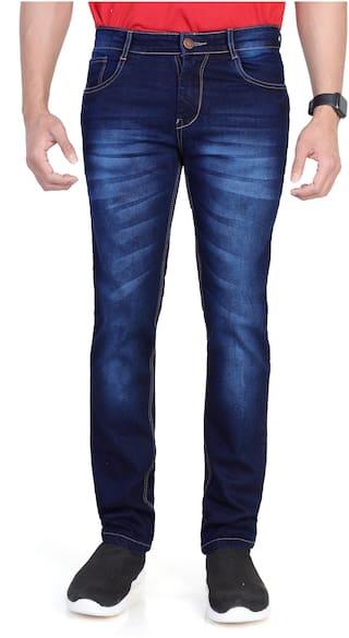 RAGZO Men Navy Blue Slim Fit Jeans