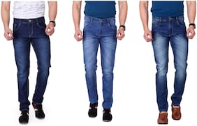 Men Slim Fit Low Rise Jeans Pack Of 3