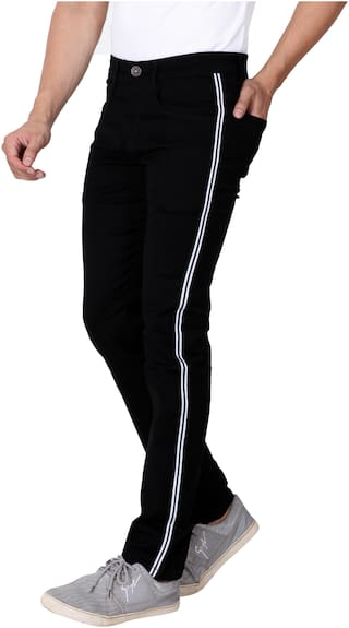 RAGZO Men Black Slim Fit Jeans