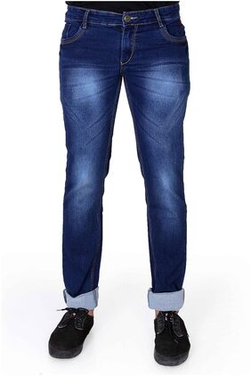 Ragzo Mens Blue Slim Stretchable Jeans