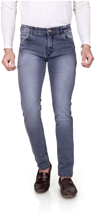RAGZO Men Grey Slim Fit Jeans