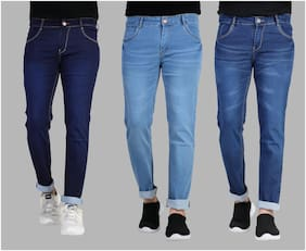 Men Slim Fit Mid Rise Jeans Pack Of 3