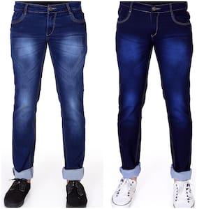 Men Slim Fit Low Rise Jeans Pack Of 2