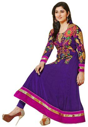Rahi Fashion Purple Embroidered Georgette Anarkali Suit(rf20118)