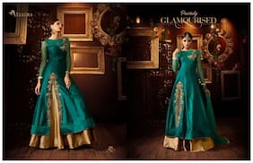 Rahi Fashion Sea Green Taffeta Silk And Net Lehenga_rf20453