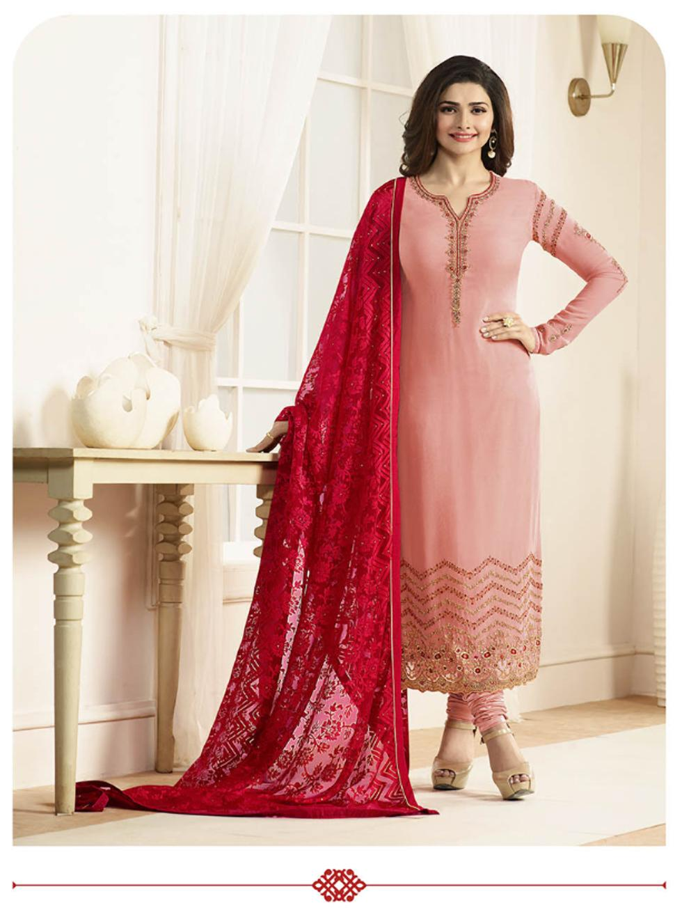 66dbb43f46 Buy Rahi fashion Georgette Printed Dress Material - Orange Online at ...