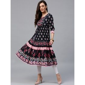 Rain and Rainbow Anarkali