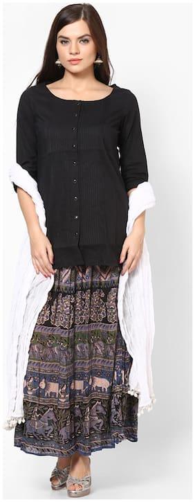 Rajasthani Sarees White Cotton Dupatta
